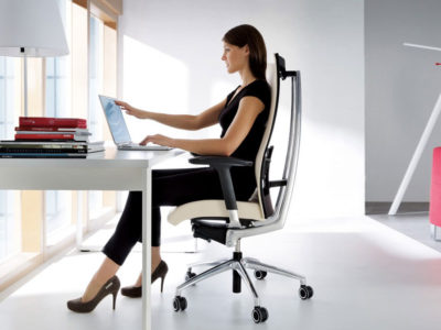 ergonomic chair sitting position