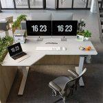 FEZIBO L-Shaped Electric Standing Desk