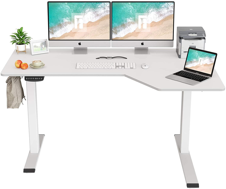 "Fezibo 55"" L-shaped Height Adjustable Desk"