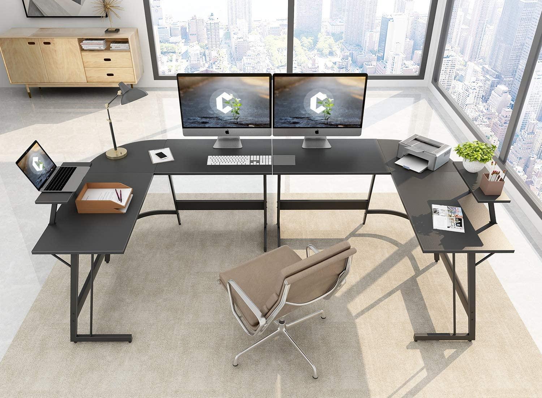 "Cubiker 55"" L-Shaped Computer Desk"