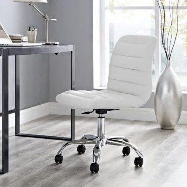 Modway Armless Chair Near A Desk