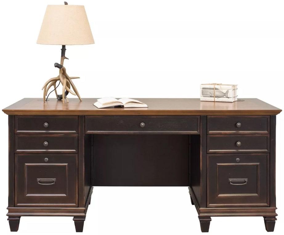 Martin Furniture Hartford Double Pedestal Desk