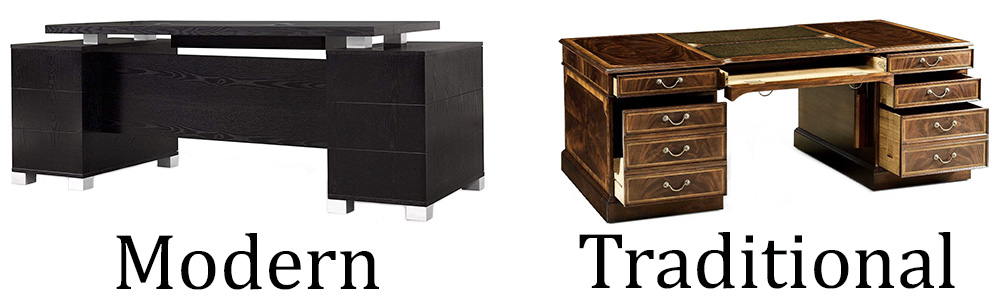 Modern And Traditional Style Executive Desks