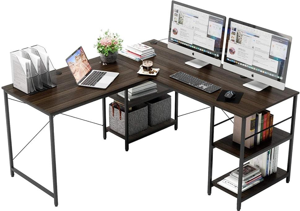 Bestier L-Shaped Computer Desk