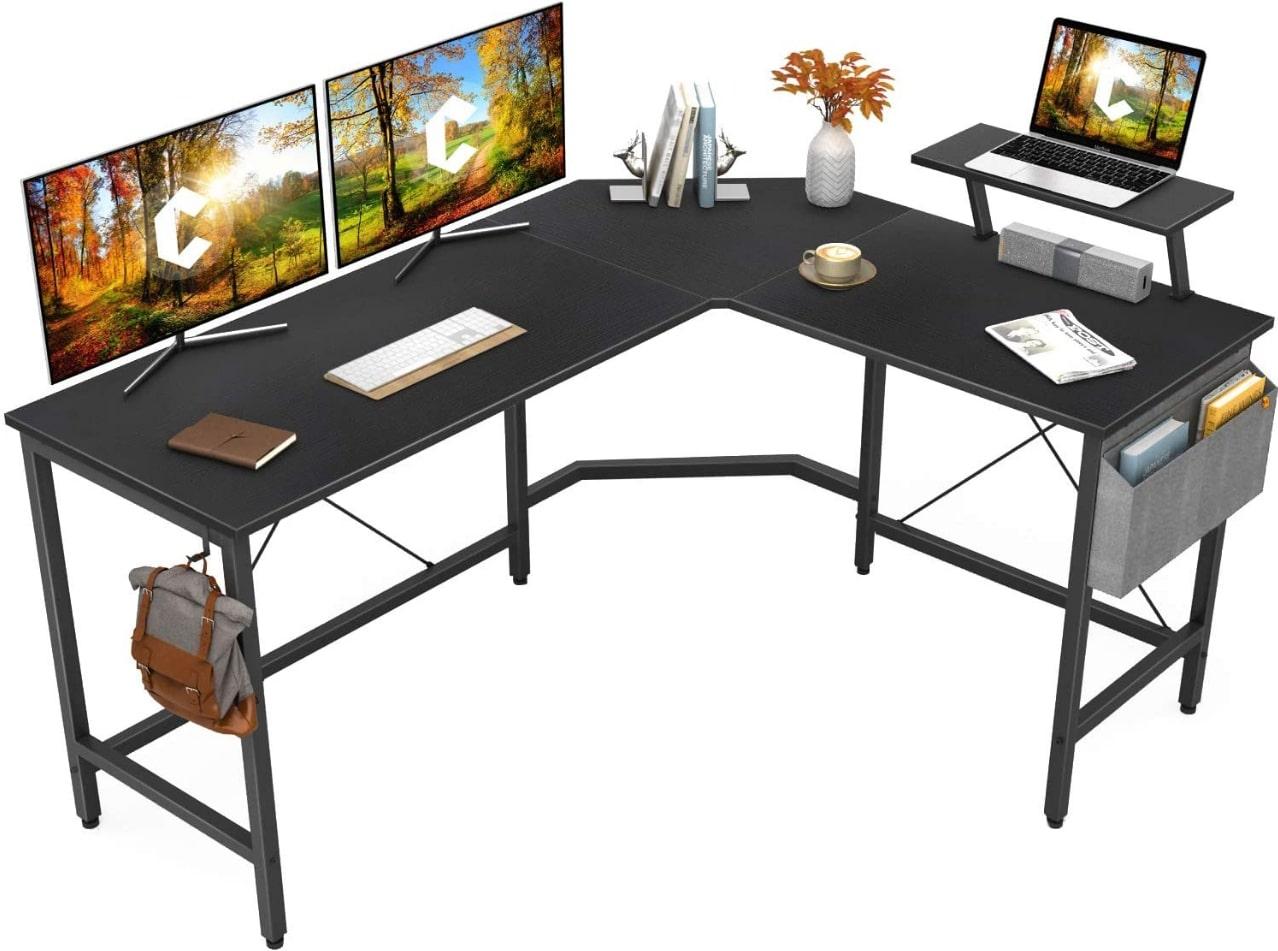 Cubiker Modern L-Shaped Desk For 3 Monitors - Best Desk For 3 Monitors