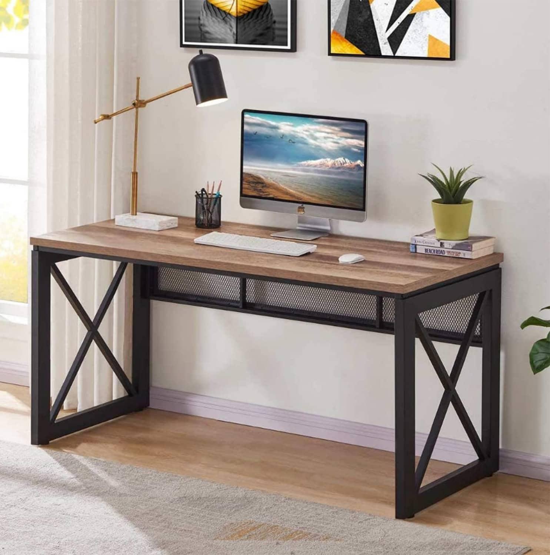 BON AUGURE Industrial Home Office Computer Desk