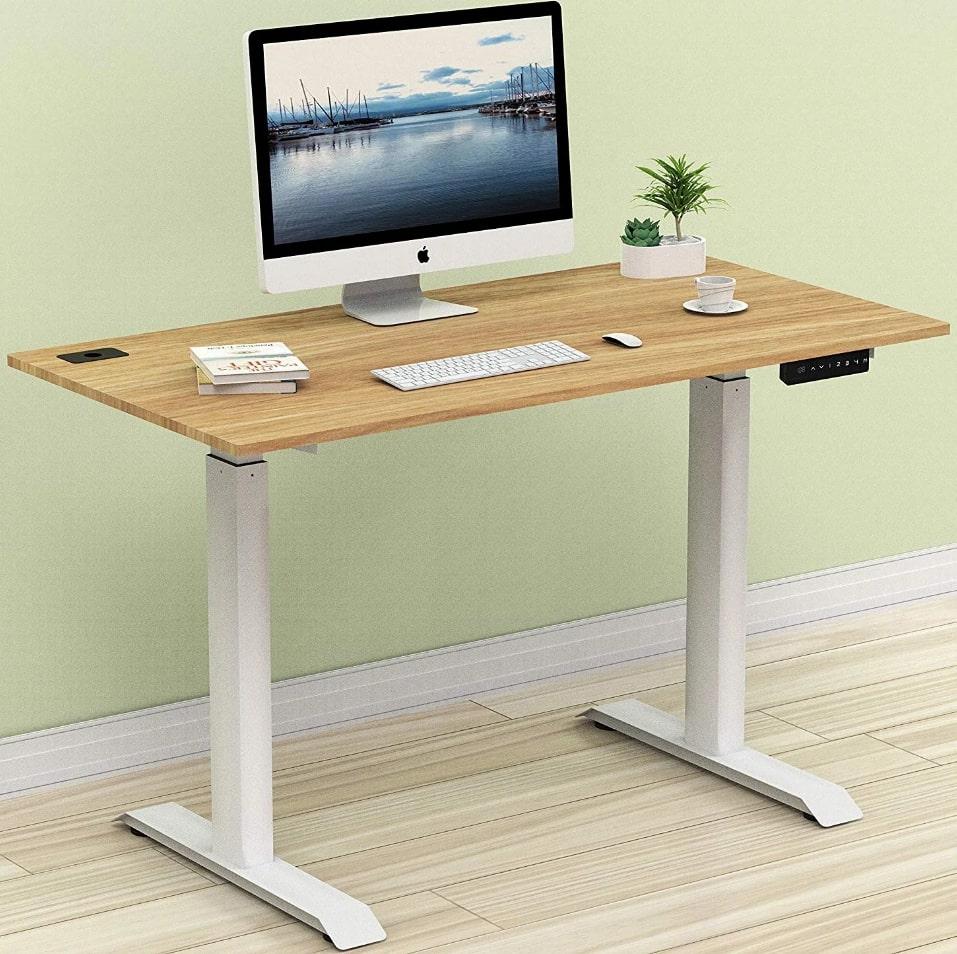 SHW Height Adjustable Desk For iMac